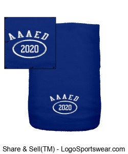 Royal Blue Scarf with AAAED Initials Design Zoom