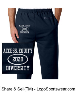 Sweat pants with Access, Equity and Diversity Design Zoom